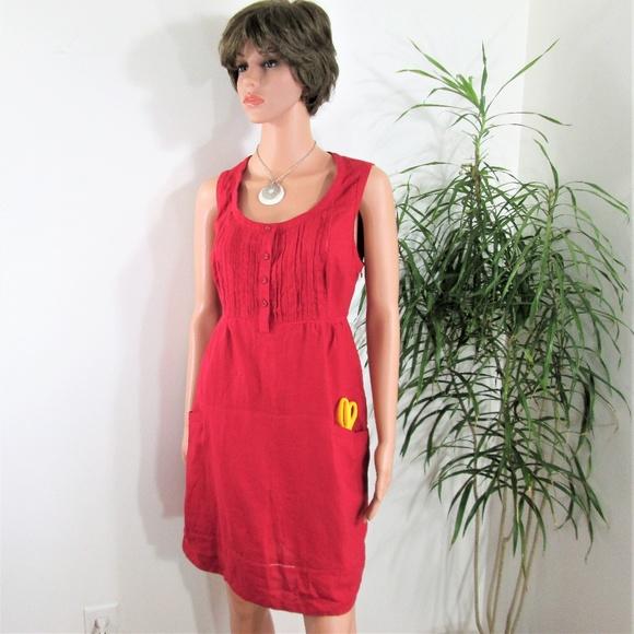 01d287e3faf 100% Linen Shirtwaist Dress